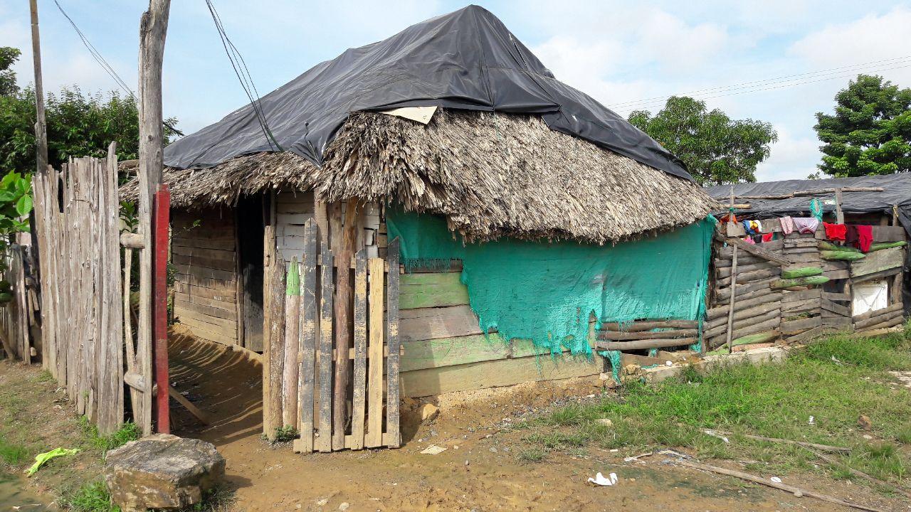 Casa donde vivía María del Pilar Hurtado con su familia en Tierralta. Foto Bibiana Ramírez
