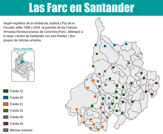 Los l os de la reintegraci n en santander for Mapa santander sucursales