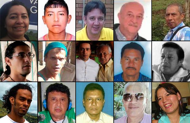 defensores asesinados semestre uno 2015