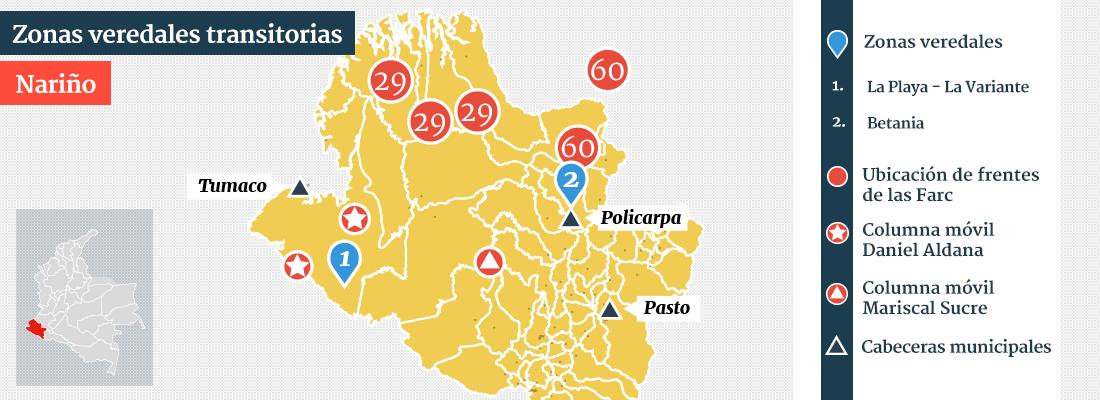 mapa zonas veredales narino