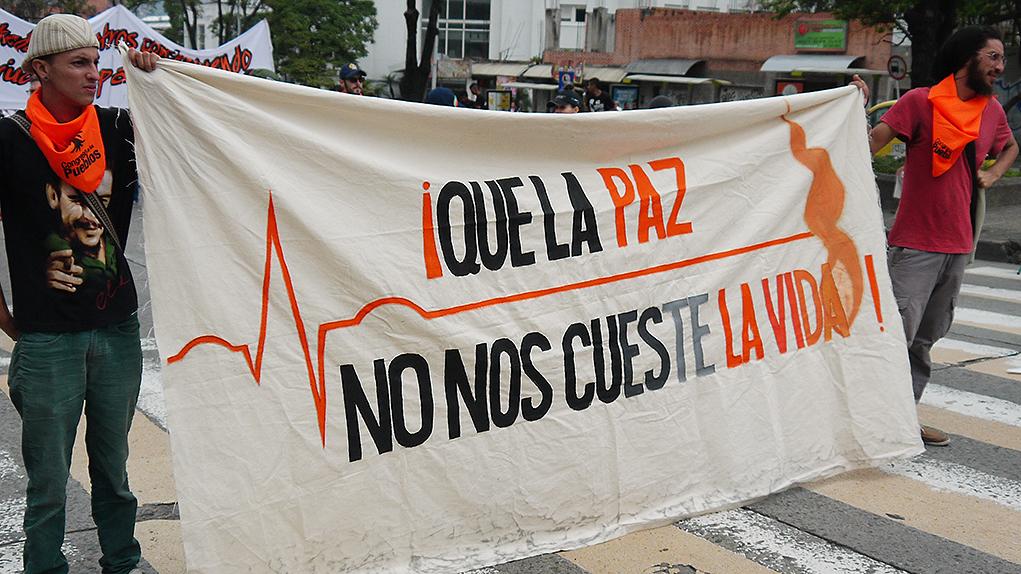 Líderes sociales asesinados en Colombia.
