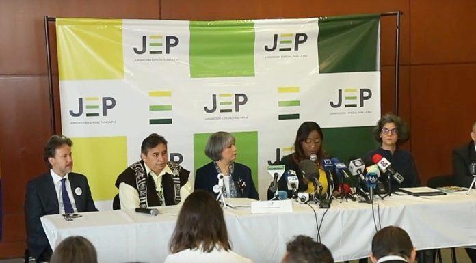 Instalación de la JEP.