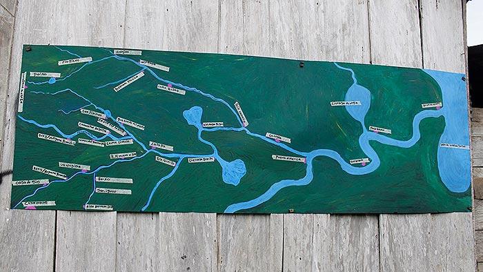 mapa hídrico de Cacaria