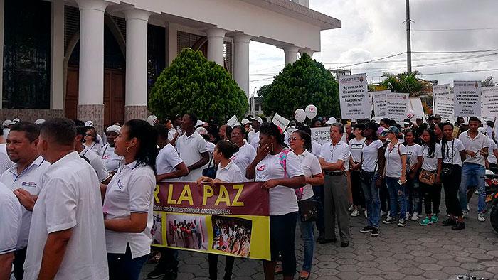 Marcha en Tumaco por aumento de la vionecia e incumplimientos con las comunidades