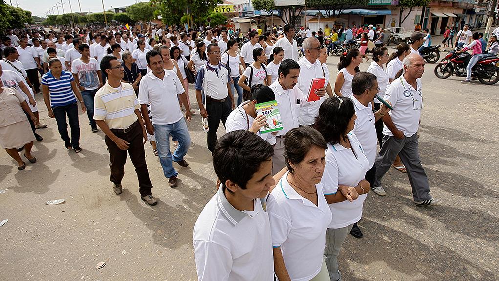 Marcha por la paz en Catatumbo.