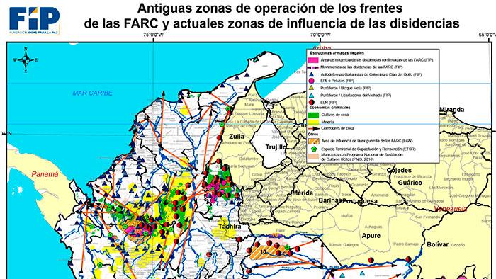 Accionar de disidencias de las Farc. Fuente: FIP.