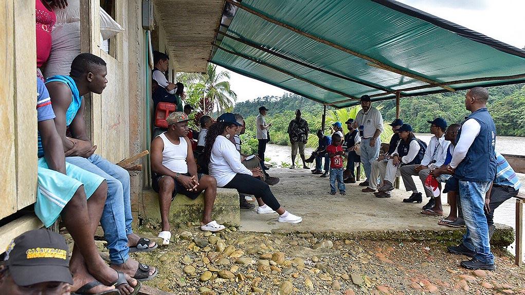 Recorrido humanitario en el Naya