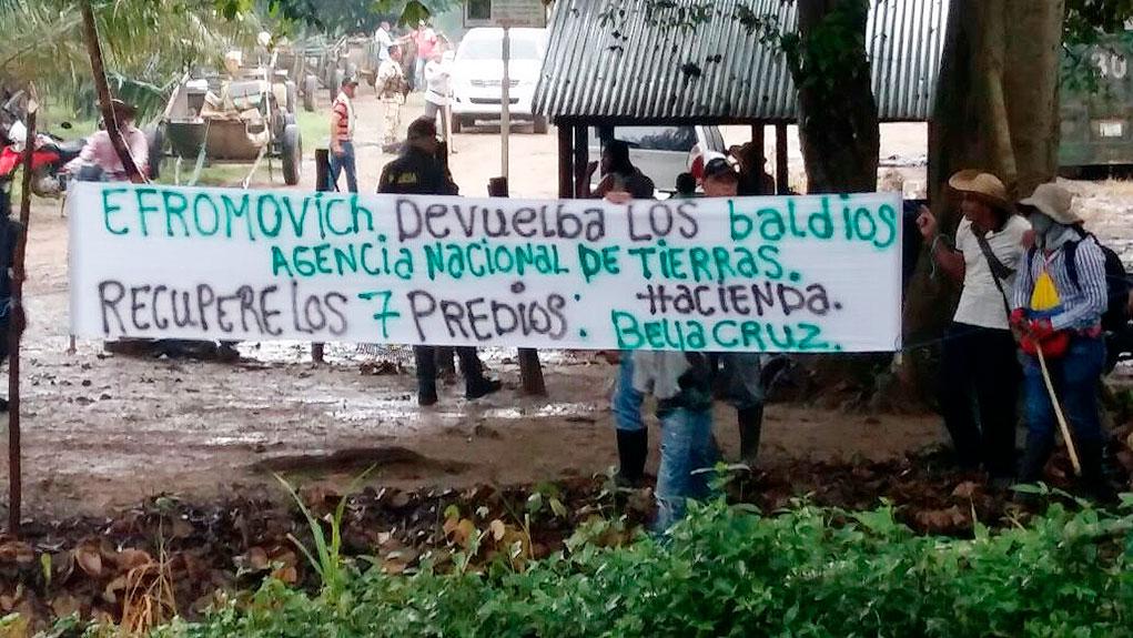 Desplazamiento forzado en la Bellacruz es crimen de lesa humanidad