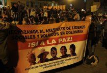 Subconteo asesinatos de líderes sociales