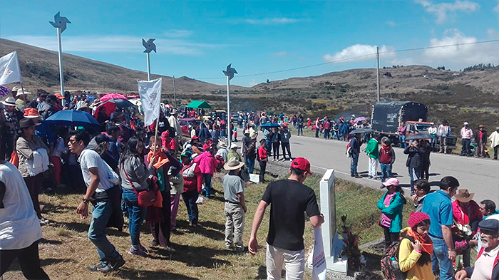 Undécima conmemoración de la masacre del páramo de La Sarna